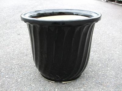 植木鉢1(黒ツヤ)