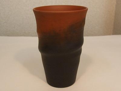 三代目 白山作 フリーカップ(朱泥窯変)