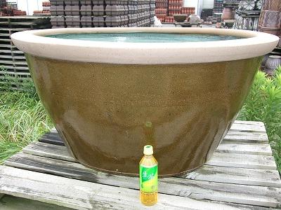 水鉢4【茶釉】超特大