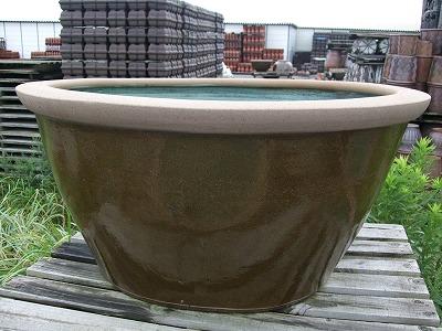 水鉢4【茶釉】特大