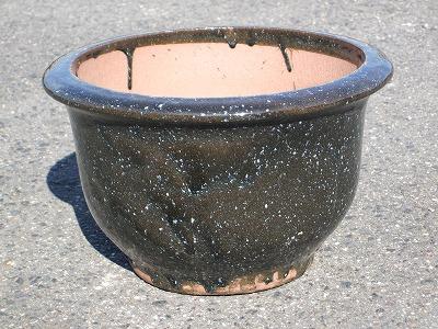 植木鉢【なまこ釉】中
