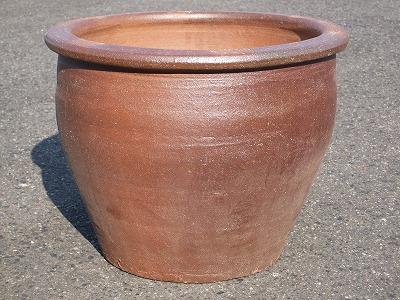 焼き締め植木鉢3-C