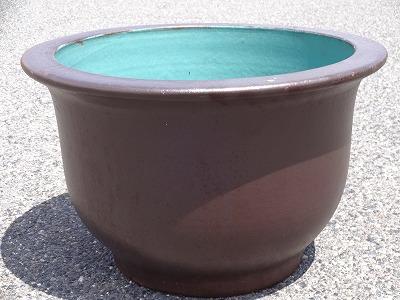 水鉢8【黒釉】B