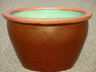 水鉢18【茶釉】B