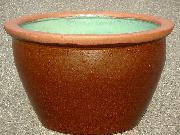 水鉢【茶釉】