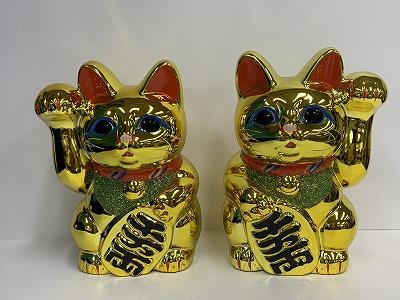 招き猫(6号金)