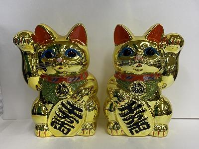 招き猫(10号金)