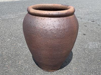 大壷 (焼締め)中 植木鉢