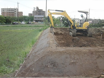 敷地造成工事もお任せください。