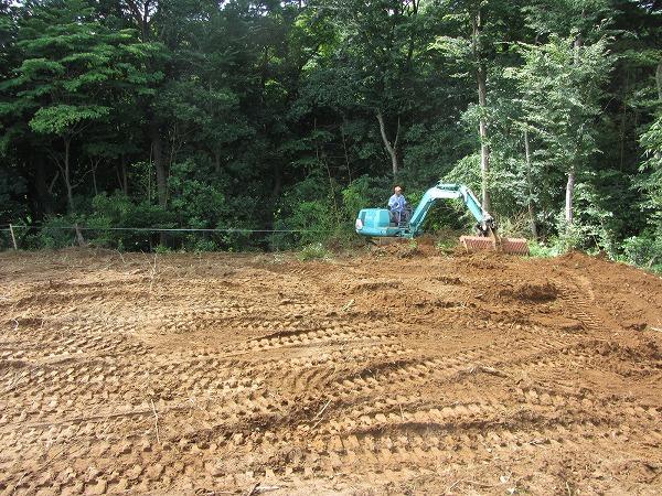 千葉県四街道の太い木の切り株を撤去