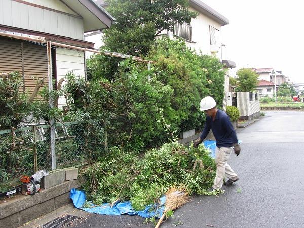 千葉県千葉市で空き家での刈り込み工事事例