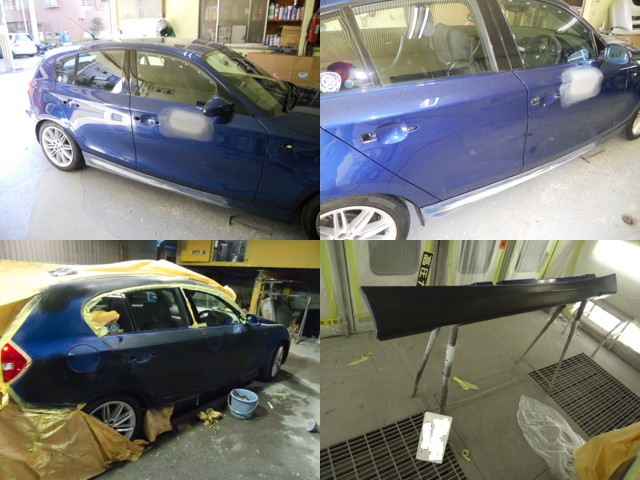 BMW修理の様子