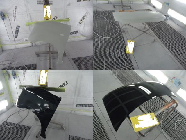 ワゴンRの修理の様子