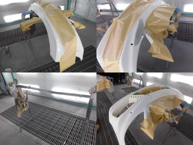 フロントバンパー(エアロ)の修理