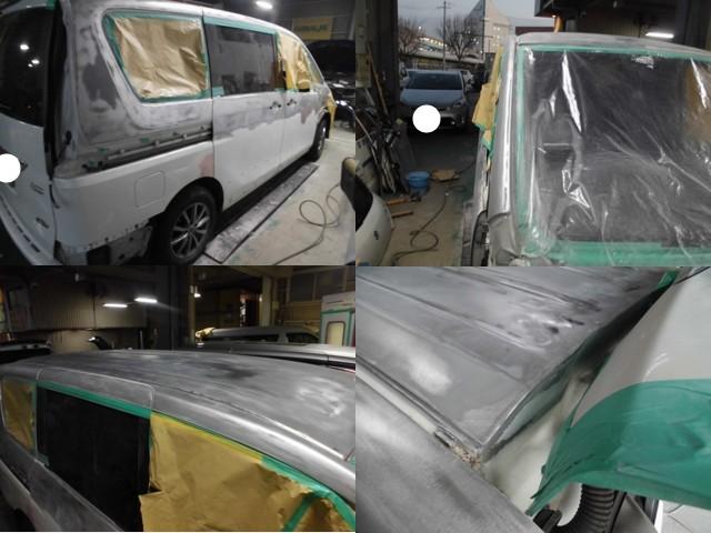 旧塗膜の剥離作業