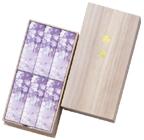 進物線香:宇野千代のお線香 淡墨(うすずみ)の桜 桐箱サック6入