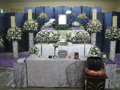 1日葬 花祭壇40万円+税プラン
