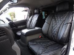 1台分セットNV350キャラバン用 IFUU高級欧州車デザイン3D成形バケットシートカバー ブラック×ブラック