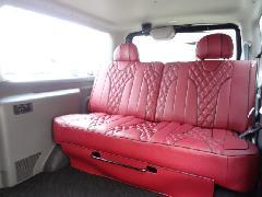 3列目のみSTEALTH乗用車登録IF-Vシリーズシート専用IFUU高級欧州車デザインシートカバー ボルドー×ブラック