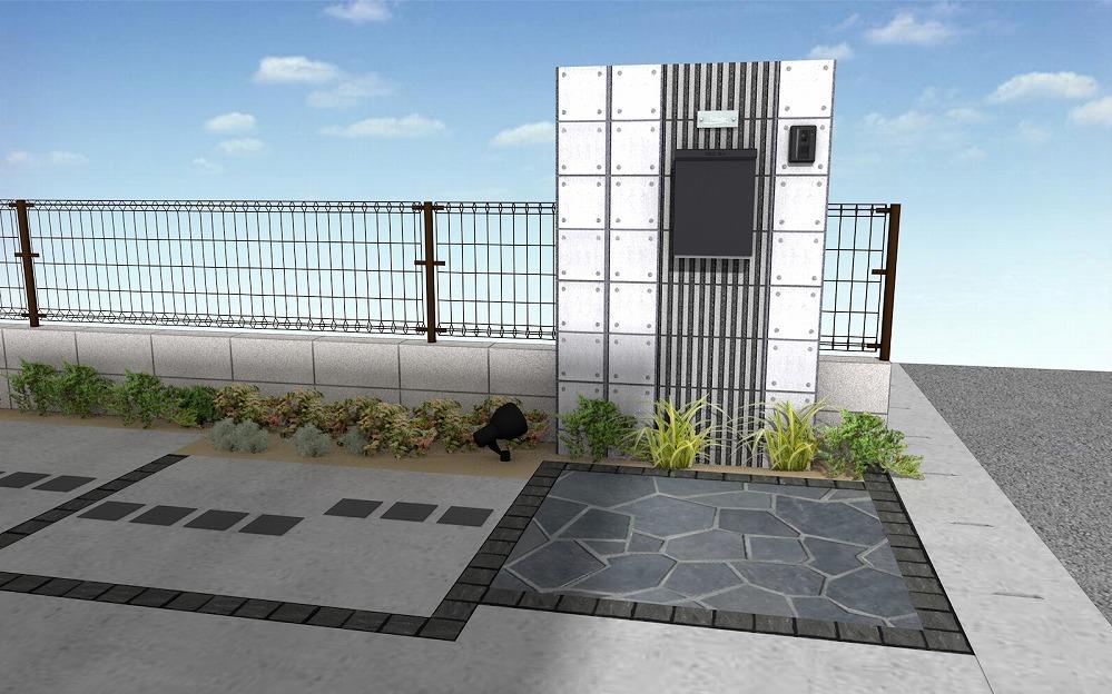 門柱 ブロック モノトーン