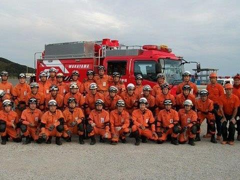 和歌山県消防学校の皆さんと御一緒に訓練