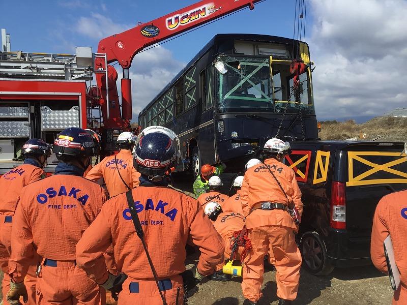 大阪市消防局様と訓練