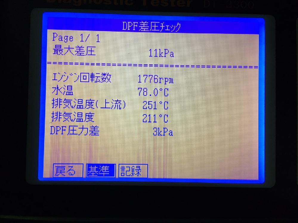 差圧のMAX15KPaのキャンター洗浄前11KPa状態です