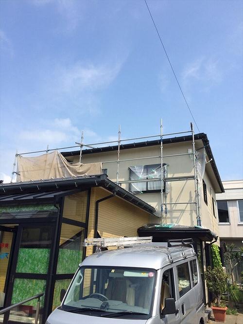 正面外壁張替え及び塗装工事