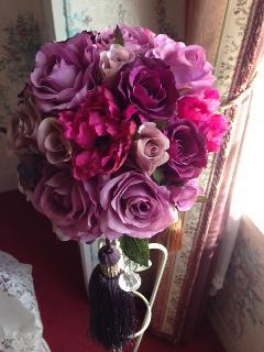 パープル・ピンク造花ブーケ