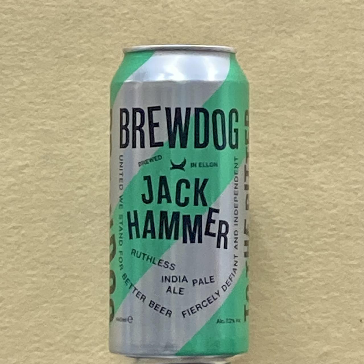 ブリュードッグ ジャックハマーIPA 440ml缶