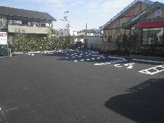 栃木県足利市 店舗 駐車場工事