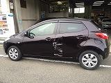 マツダ車デミオのキズヘコミ板金塗装修理を京都で施工しました!