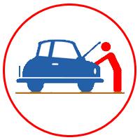 2.プロの査定士により、車の状態を調べます。