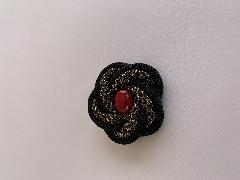 梅 (大島とウッドビーズ)赤