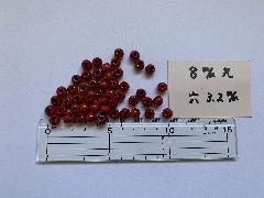 8mm 3.2穴 赤(50ヶ入)