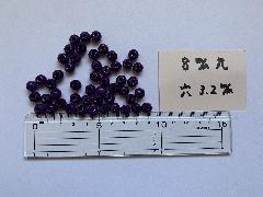 8mm 3.2穴 紫(50ヶ入)