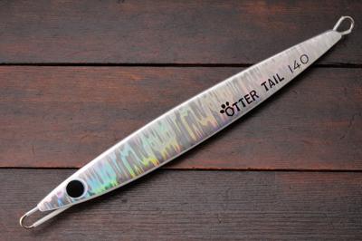 ブリード オッターテイル鉛 140g シルバー/グローベリー