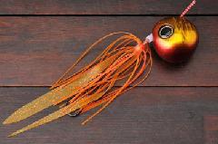 ジャッカル 鉛式 ビンビン玉スライド 120g レッドゴールド/エビオレンジ