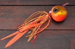 ジャッカル 鉛式 ビンビン玉スライド 120g オレンジゴールド/蛍光オレンジ