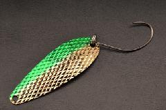 ムカイフィッシング 岩魚スプーン 5g 6グリーンゴールド