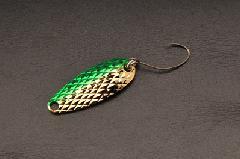 ムカイフィッシング 岩魚スプーン 3g 6グリーンゴールド