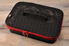 パズデザイン ウォッシャブルメッシュケース L  PAC-227 ブラック/レッド