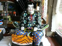 NO  131    日吉神社 右大臣、左大臣の修理 しました。 高さ1200