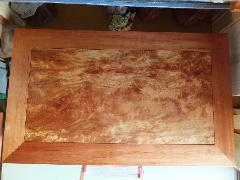 NO 290   日本産の肥松   金欄杢目    長さ150�p×横幅90cm×高35cm