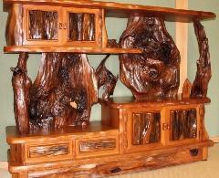 NO 538 屋久杉 飾り棚  数千年以上 くれた上物ばかり使い 重みのある作品.                         横150cm×奥行40cm×高114cm