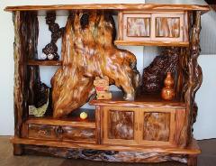 NO 308 屋久杉 飾り棚  数千年以上 くれた上物ばかり使い 重みのある作品です。