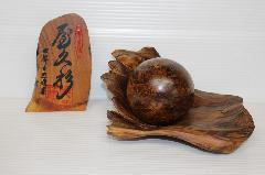 No 643   屋久杉 泡瘤  長寿玉 (玉長径 6.5�p)