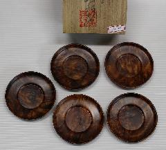 NO 684    屋久杉瘤材 茶 托              現品処分¥50.000を¥38.000円