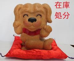 NO 211   楠 材                    福  犬                山中八洲男作 (彫刻家)                             (大)特別価格19万円