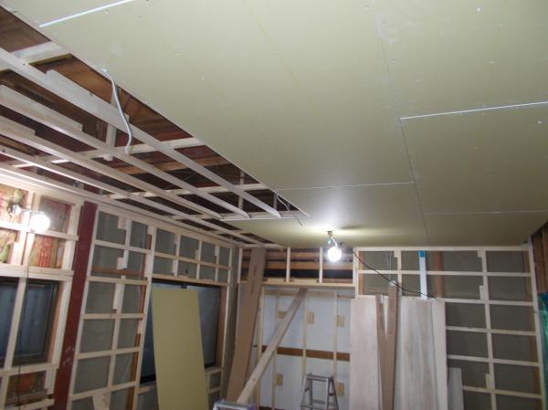 天井 壁 床 フロリング工事